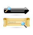 Searching icons vector image vector image