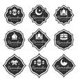 set black ramadan kareem emblems labels vector image vector image