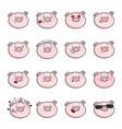 set of emoticon icons emoji pigs vector image