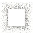 silver square vector image vector image