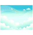 Sky Landscape Background vector image vector image
