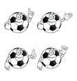 Smiling cartoon football set vector image vector image