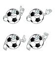 Smiling cartoon football set vector image