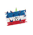soccer player team with france flag background vector image vector image