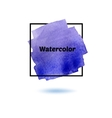 Splash watercolor isolated on white background vector image vector image