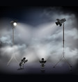 spotlights fog realistic image vector image