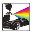 spray paint car symbol vector image