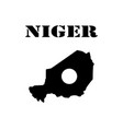 symbol of isle of niger and map vector image vector image