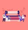 textile machinery manufacture factory worker vector image