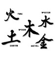 the chinese element symbols vector image vector image