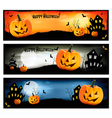 three colorful halloween banners vector image