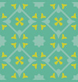 tile green decorative floor tiles pattern vector image vector image