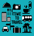 Traveling and transport icons for Web and Mobile A vector image