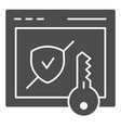 verified secure site solid icon computer vector image vector image