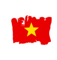 vietnamese flag painted by brush hand paints art vector image