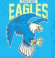 vintage eagle mascot vector image vector image