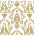Vintage Rococo ornament pattern vector image vector image