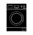 washing machine black silhouette icon vector image