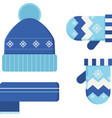 Winter Hat and Scarf vector image