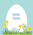 spring april flowery frame for easter vector image