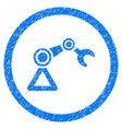 artificial manipulator rounded grainy icon vector image
