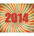 2014 Happy New Year retro background vector image vector image