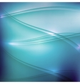 abstract blue background with waves vector image vector image