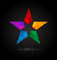 Abstract colorful Star made of pyramids vector image vector image