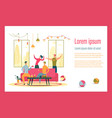 apartment party flat landing page template vector image vector image