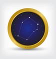 auriga constellation in golden circle vector image vector image