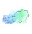Austria watercolor map vector image vector image