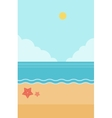 Background of sand beach with blue sea vector image vector image