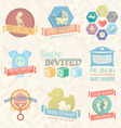 bashower invitation labels and icon vector image vector image