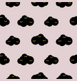 bat clouds pattern seamless night animals vector image