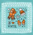 beautiful hand drawn winter vector image vector image