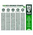 big set 180 eco stamps vector image vector image