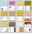 Big set of businessman card resize vector image vector image