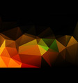 black brown yellow green low poly background vector image vector image