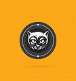 black cat face logo vector image vector image