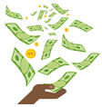 black hand money vector image vector image