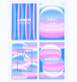 blue and pink gradient waves stock four cover vector image vector image