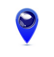 blue map pointer with blank center vector image