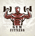 bodybuilder athlete exercising symbol vector image vector image