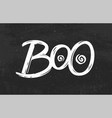 boo hand drawn lettering for halloween vector image vector image