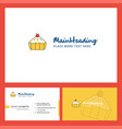 cake logo design with tagline front and back vector image vector image