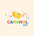 carnival card or banner vector image