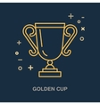 Champion trophy linear icon Golden cup logo vector image vector image