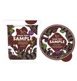 chocolate yogurt packaging design template vector image