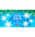 creative merry christmas discount banner or vector image vector image