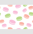 cute background macaroons vector image